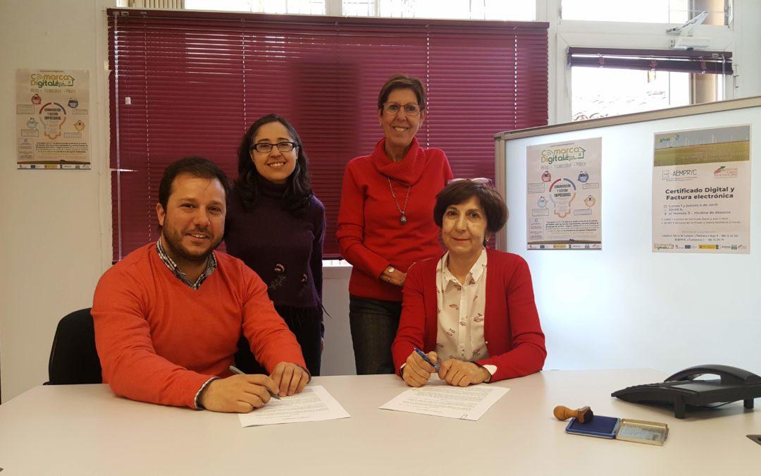 El Colectivo 'Tierra de Campos' y AEMPRYC firman un convenio de colaboración