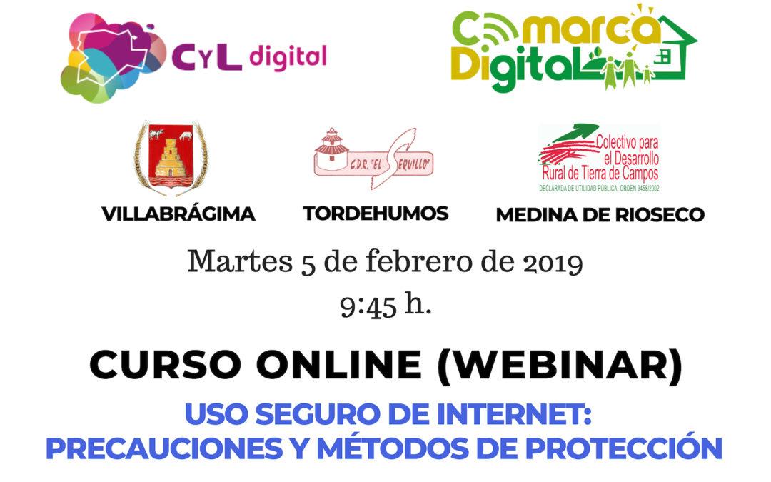 Formación sobre el «uso seguro de Internet, sus precauciones y métodos de protección» el próximo martes 5 de febrero